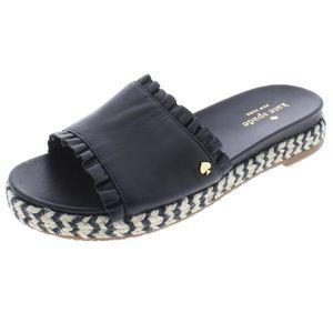 Kate Spade Zahara Slide Leather Espadrille Sandals
